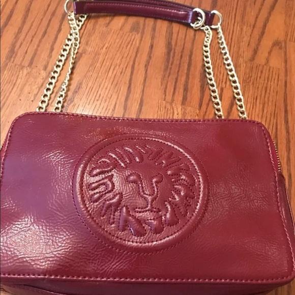 a8b92ab86d3 ... Anne Klein patent leather handbag burgundy new arrival 5f945 f8a62 ...